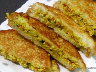 paneer bhurji sandwich